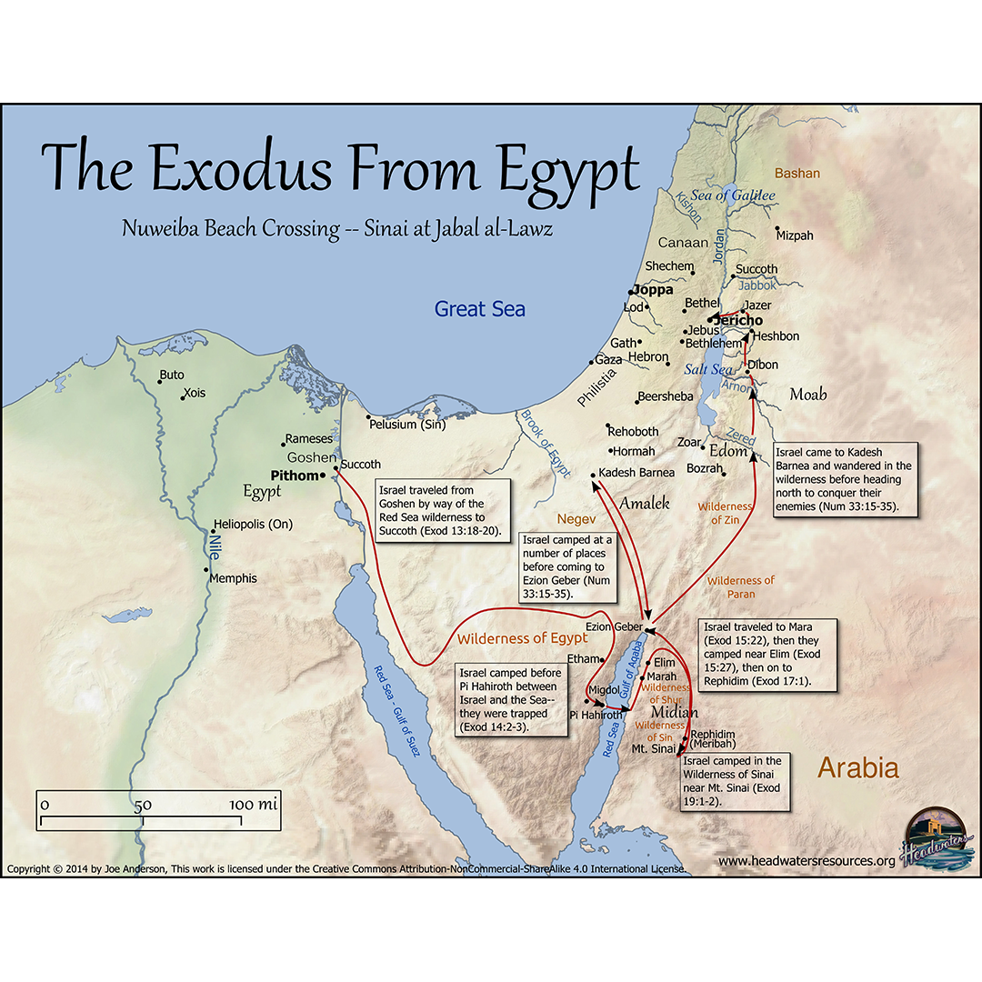 Exodus Moses And Joseph Maps Set Pro Series Bible Maps - Map of egypt israel